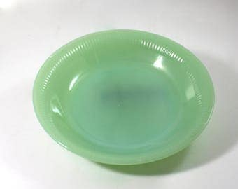 Vintage Jadeite Fire-King Jane Ray Soup Bowl