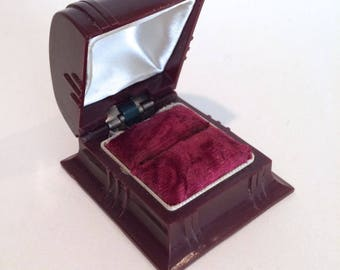 Art Deco Ring Box Celluloid Presentation Box