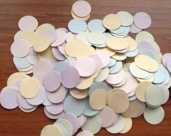 Over 1500 pcs Confetti tiny pastel circle 1 centimeter
