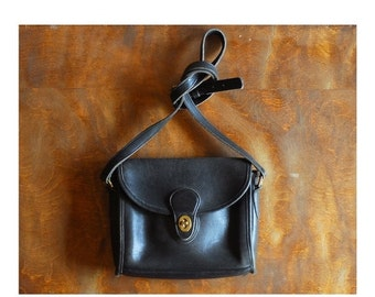 20% OFF FALL SALE / vintage black leather coach purse / coach Devon bag