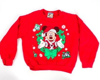 Vintage mickey mouse christmas sweater | Etsy