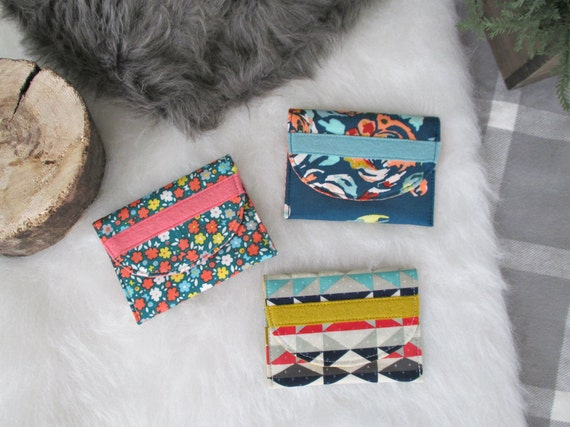 Gift Card Case Bundle of 3. Buyer's Choice of Three Card Cases. Gifts Under 10 each. Stocking Stuffers.