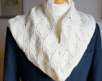 Scarf Infinity Cowl Pure Corriedale Wool Natural Undyed
