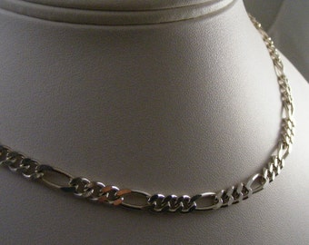 Vintage Bold Chunky Sterling Necklace Chain..... Lot 4787