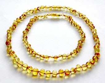 NATURAL BALTIC AMBER Teething Necklaces for Baby and Mommy