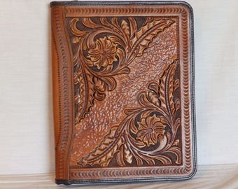 Leather handcrafted Organizer for 8 x 11.5  note pad