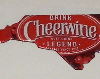 North Carolina (NC) Shaped Magnet - Cheerwine