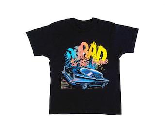 1989 Neon Chevy Bad to the Bone 50/50 T-Shirt - M