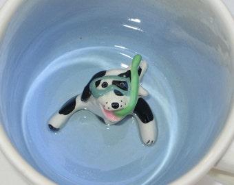 Snorkeling Dog Mug (in stock)