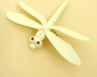 Adorable Small Vintage Celluloid Dragonfly Brooch