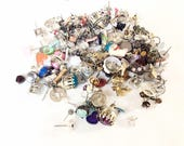 lot of small little tiny studs earrings for assemblage craft jewelry making steampunk supplies