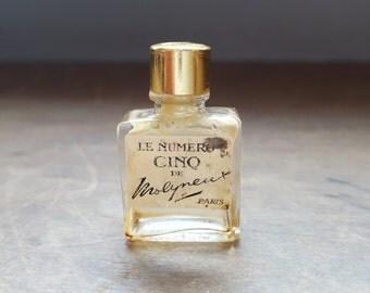 Antique Mini Perfume Bottle Le Numero Cinq De Molyneux, Paris