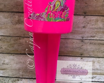 Lilly Pulitzer Spiker, State, home, personalized beach spiker, cup holder, drink holder for sand, lily Pulitzer, beach accessories