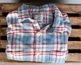 Vintage Blue/White/Red Flannel