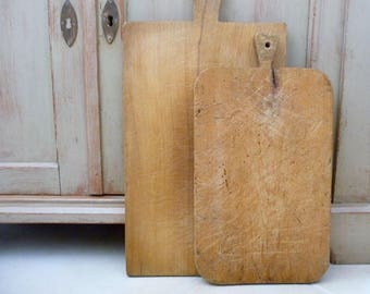 Vintage French Cutting Board, Antique Butcher Block, Bread Board, French Country Kitchen