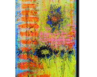"""Art  Abstract painting Canvas painting Contemporary painting  Original painting Flamboyance of Yellow  24""""x36"""" Acrylic on Canvas fine art..."""