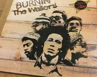 The Wailers Burnin USA  Gatefold RePrint 1973 Island Records great shape