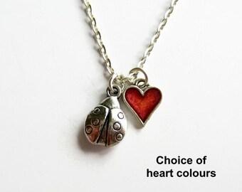 Ladybird Necklace, Ladybug Necklace, Ladybird Jewellery, Ladybug Jewelry, Charm Jewelry, Insect Jewellery, Nature Lover Gift, Small Pendant