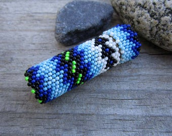Needle Case Seed Beaded with Peyote Stitch