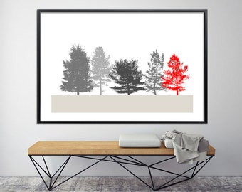 Extra Large wall art, black and white, Large Canvas Print, Giclee Print up to 40X60, tree print, nature prints, large poster