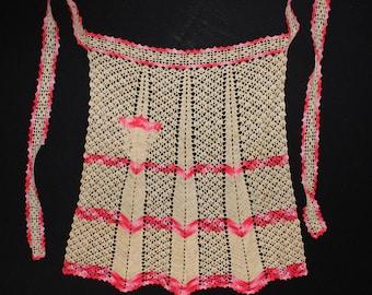 Antique /  Vintage Crochet Apron