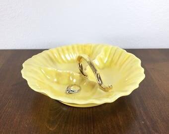 Yellow Irridescent Dish