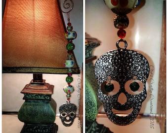 Dia de los Muertos Day of the Dead Sugar Skull Beaded Hanger