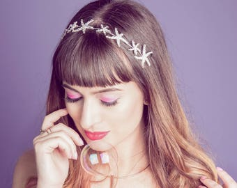 Mermaid Starfish Tiara Crown