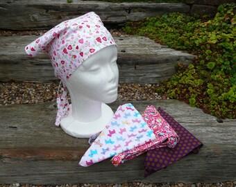 Bandana, Head Scarf, Head Band, Headband,  Printed cotton bandana with ties