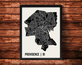 Providence Map Art Print | Providence Print | Providence Art Print | Providence Poster | Providence Gift | Wall Art