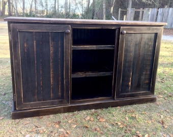 Great Rustic Media Console/Tv Stand/Entertainment Center/TV Cabinet/media Console/