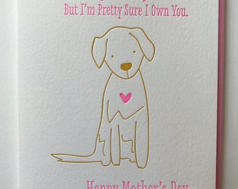 Mother's Day card from Dog - Card from Dog - Humorous Mother's Day card - Fur Mom Card Dog Mother's Day Card