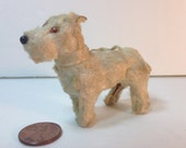 Miniature Terrier Dog, Mohair, Wool, Wood - Possibly Steiff