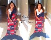 PATRIOTS Blanket, Mermaid Tail Blanket, New England Patriots, Fleece Blanket, Patriots Mermaid Tail Blanket