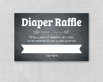 Printable Baby Shower Diaper Raffle Ticket, Printable Chalkboard, Diaper Raffle Sign, Baby Shower Raffle, Gender Neutral