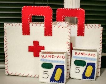 Custom Kid's Toy Felt Band Aids Box & 10 Bandages