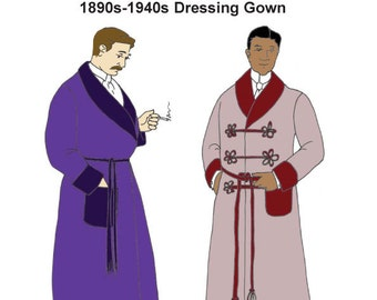 RH926 - 1880s-1940s Dressing Gown or Lounging Robe