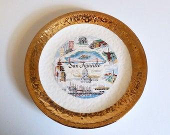 San Francisco Vintage Souvenir Plate - Floyd Jones Vintage