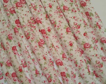 "Rosali Tab Top Curtains fully lined handmade Cath Kidston fabric 72"" drop"