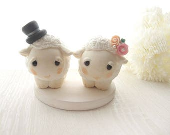 Love Handmade Wedding Cake Toppers - Ewe with base