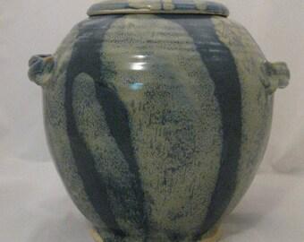 Slate Blue Covered Jar