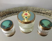 Art Nouveau Vanity Jars ~ Vintage Powder Jar