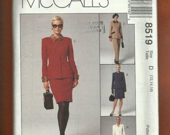15% OFF SPRING SALE McCalls 8519 Modern Jacket & Slim Skirt Pants and  Front Button Dress Sizes 12..14..16 Uncut