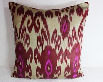 Ikat Pillow, Handmade Ikat Pillow Cover  S105, Ikat throw pillows, Designer pillows, Decorative pillows, Accent pillows