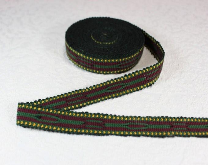 Woven Trim (6 yards), Woven Border, Cotton Ribbon, Grosgrain Ribbon, Dress Border, Border Trim, R150
