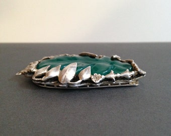 Fishel, Nessler and co sterling and chrysoprase pendant