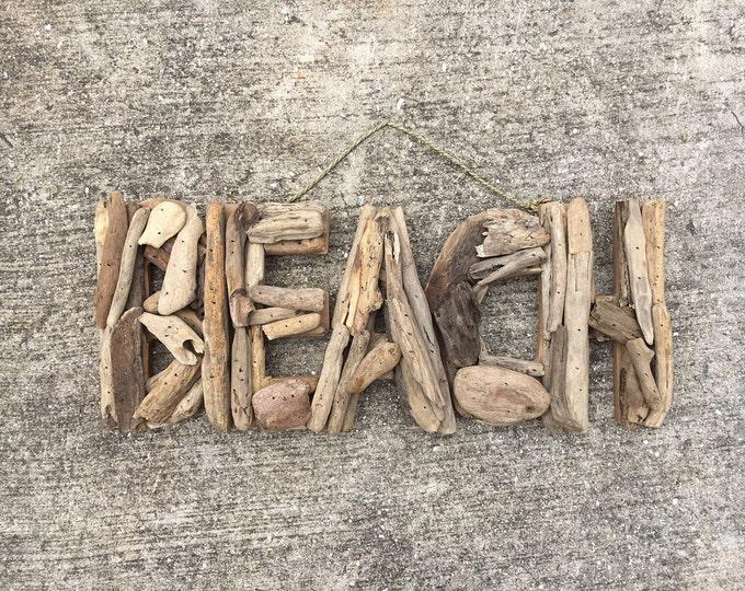 Beach Décor Driftwood BEACH signs by SEASTYLE