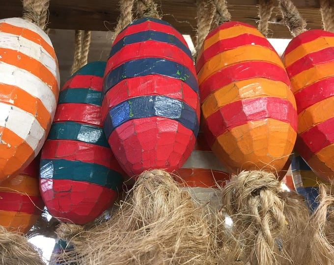 Beach Decor Vintage Nautical Wooden New collection of Lobster Buoys SeaStyle