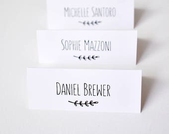 Place cards for wedding x 50, personalised wedding table name tags, guest place setting, table name card, place cards, guest name cards