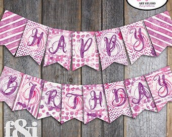 Art Party Banner   Art Birthday Banner   Painting Party Banner   Art Party Printable   Art Party Decorations   Art Party Supplies  Printable